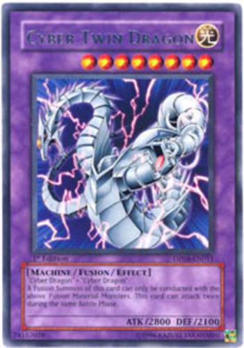 3x (M/NM) Cyber Twin Dragon - DP04-EN011 - Rare - 1st ...