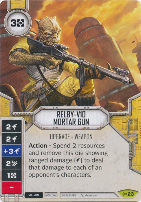 x1 Relby-V10 Mortar Gun 23 Rare Star Wars Destiny Empire at War M//NM